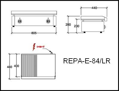 Dessin technique avec cotes en mm du REPA-E-84